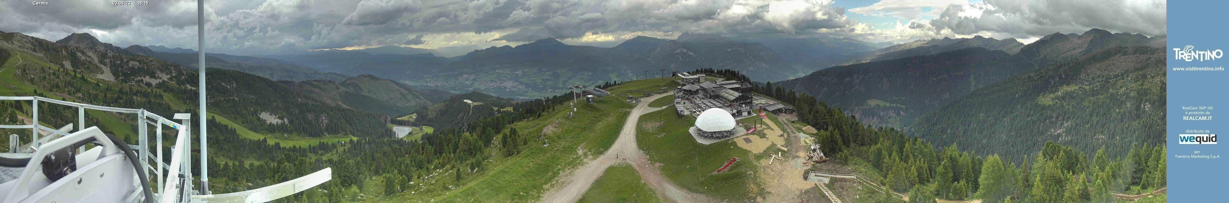 Alpe Cermis Cavalese webcam panorama